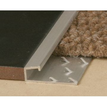 carpet grip. 10mm alum straight grip carpet bronze 2.5m w