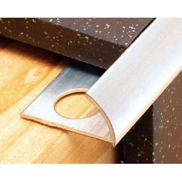 12mm Aluminium Round Edge Trim Nt Anod Lgth