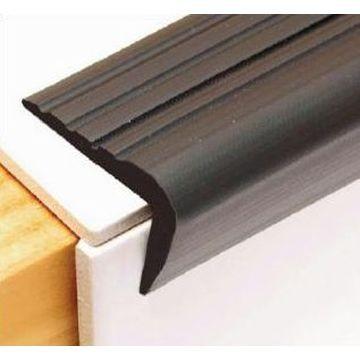 45mm PVC Retrofit Stairnosing Dark Gre Lgth