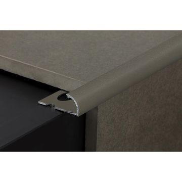 12mm Aluminium Quadrant Edge Trim Grey Lgth