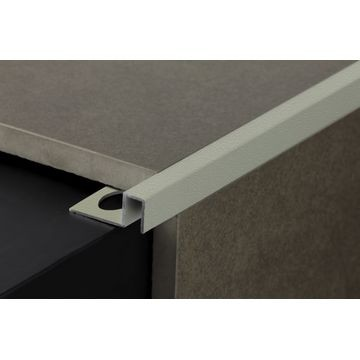 10mm Alum Square Edge Grey 2,5m