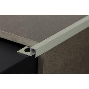 12mm Aluminium Square Edge Trim Brown Lgth