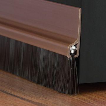 MSeal PVC Door Brush 915mm Brown Lgth & MSeal PVC Door Brush 915mm Brown Lgth - Kirk Marketing