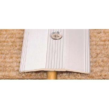 38mm Alum Tile Carp Cv (1m)Brass Lgth