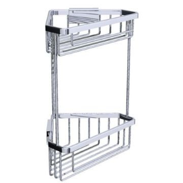 RD Double Corner Basket Brass ea