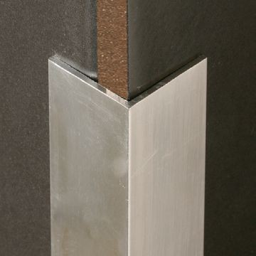 Corner Protector 76x76x2mm. Retro-fit. Natural Anodized finish