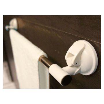 Suction 60cm Towel Rail White Ea
