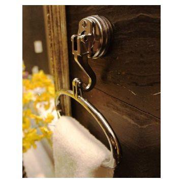 Suction Diana Towel Ring Plastic Chrome Ea