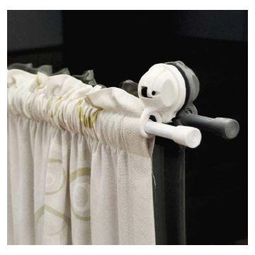 Suction Sam 2 Pc Curtain Rail Hks White Ea