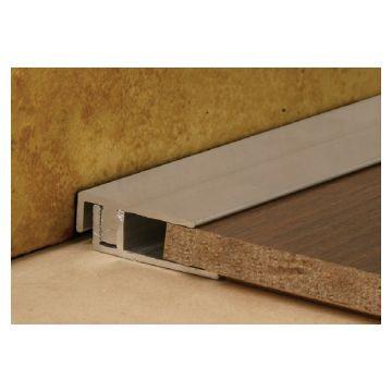 LL 24mm Alum Cover Square End Carpet Brz 2.5m