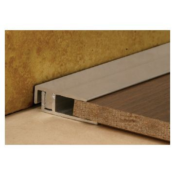 LL 25mm Alum Cover Square End Natural 2.5m