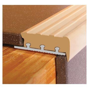 MTRIM Alum & PVC Tile in Nosing Base Unp Lgth