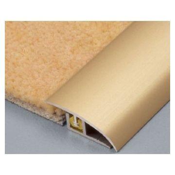 Dural 6mm Aluminium Clipper Carpet Sil Lgth