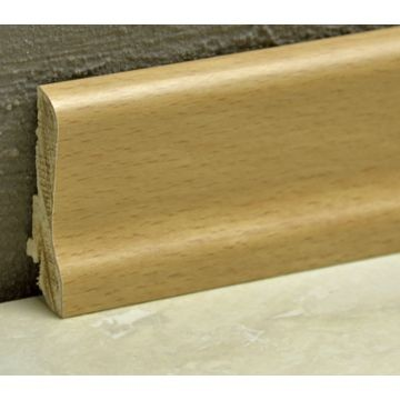 Pedross 60mm Wood Veneered Skirting Beech Lgth