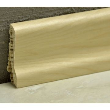 Pedross 60mm Wood Veneered Skirting Birch Lgth