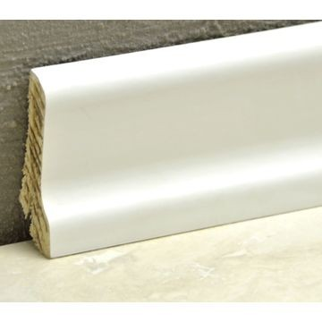 Pedross 60mm Wood Veneered Skirting White Covered Lgth