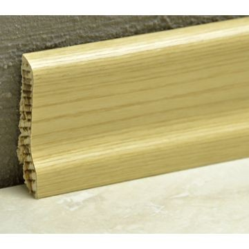 Pedross 60mm Wood Veneered Skirting Ash Lgth