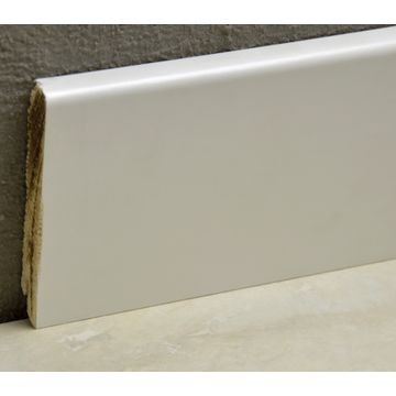 Pedross 95mm Wood Veneered Skirting White Covered Lgth
