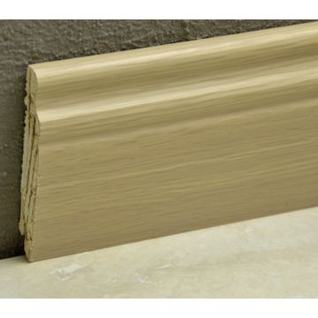 Pedross 95mm Classic Wood Veneered Skirting White Oak Lgth
