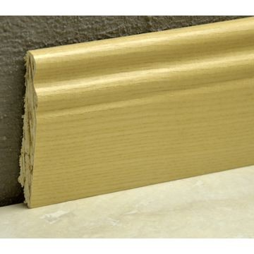 Pedross 95mm Classic Wood Veneered Skirting Ash Lgth