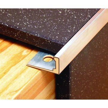 12mm Alum Straight Edge Trim Mt Charcoal Lgth