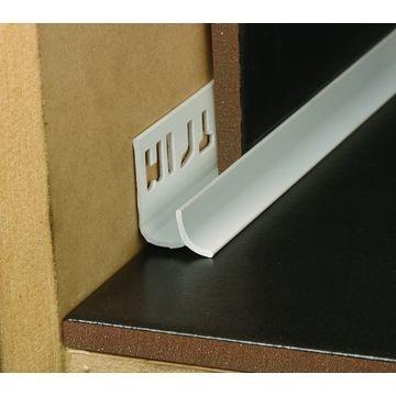 9mm PVC Concave Edge Trim Blue Grey Lgth