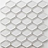 Porcelain Mosaic 46x60 Gloss White Recessed Diamond