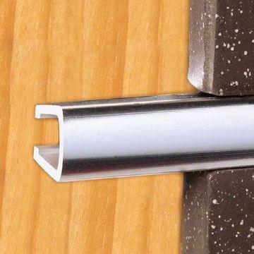 Pencil Listello 10mm W X 8mm D Bright Silver Anodized